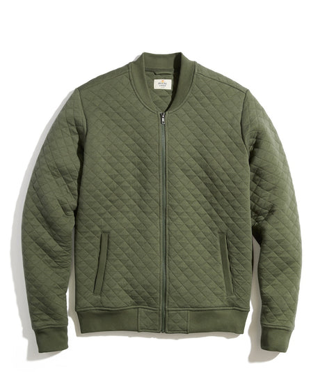 Corbet Quilted Bomber in Deep Lichen Heather