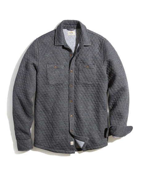 Quilted Overshirt in Heather Dark Grey