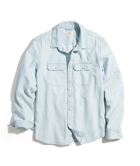 Classic Fit Denim Work Shirt