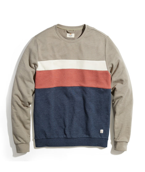 Jordan Crew Sweatshirt in Olive/Navy Colorblock