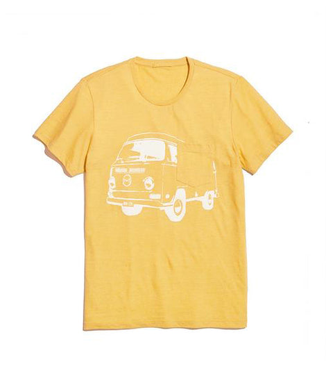Bus Pocket Tee in Yellow Ochre