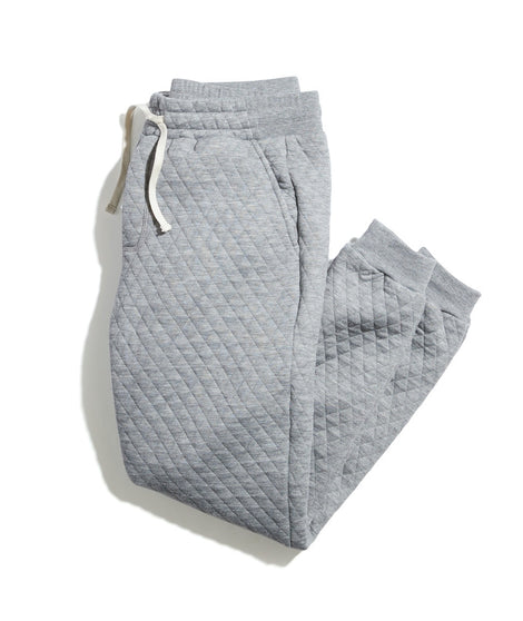 Corbet Quilted Jogger in Heather Grey