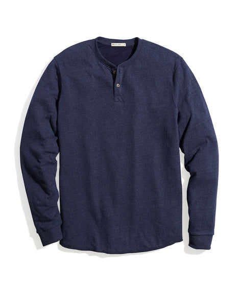 Double Knit Henley in Navy Blazer