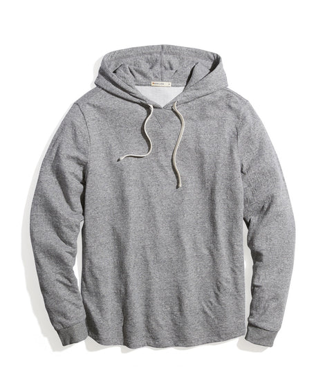 Double Knit Pullover Hoodie in Heather Grey