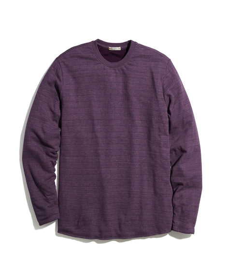 Double Knit Crew in Blackberry Wine/Navy Stripe