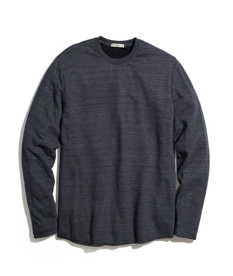 Double Knit Crew in Charcoal Heather/Black Stripe
