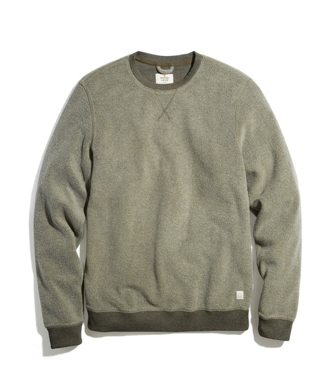 Fleece Out Crew Sweatshirt in Deep Lichen Heather