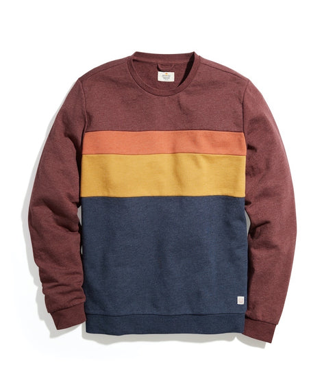 ML x LF Jordan Crew Sweatshirt in Andora/Navy Colorblock