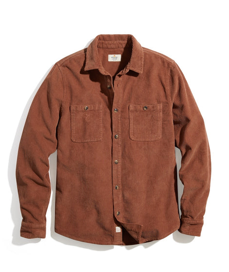 Max Broken In Corduroy Overshirt in Faded Auburn