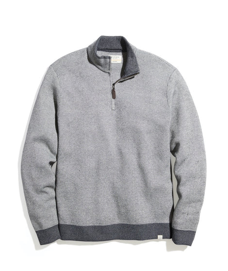 Myers Quarter Zip Sweater in Heather Grey