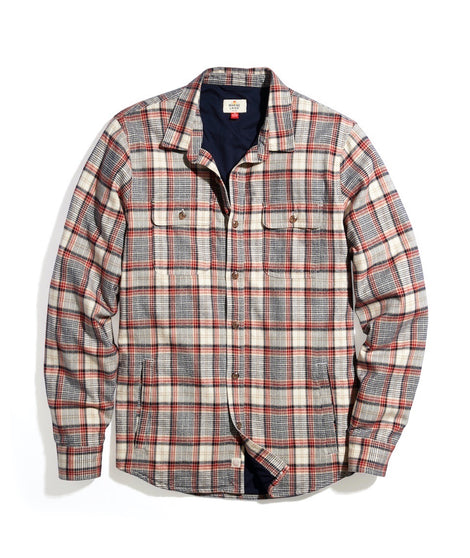 Signature Lined Camping Shirt in Cream Multi Plaid