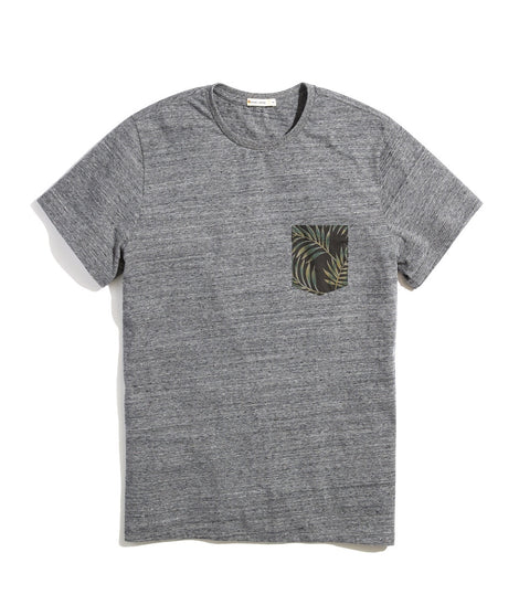 Re-Spun Pocket Tee in Heather Grey Neps