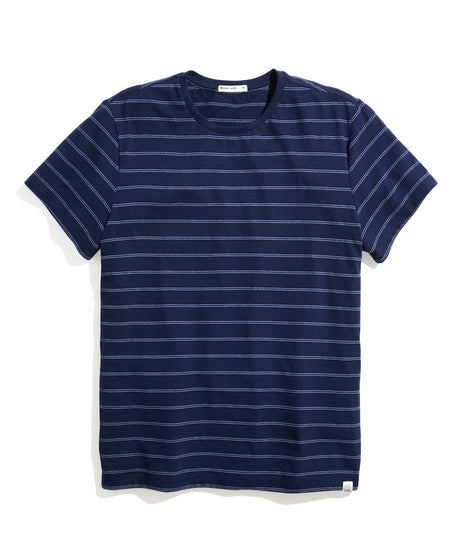 Re-Spun Signature Crew Tee in Blue Stripe