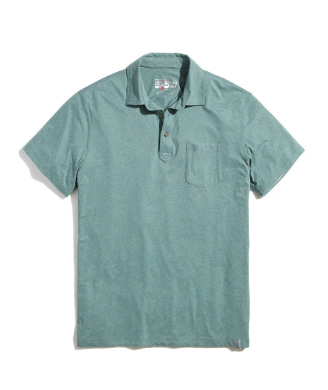 Sport Polo in Mallard Heather