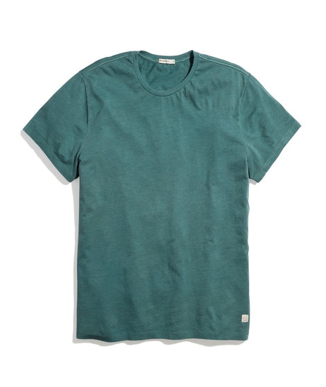 Signature Crew Tee in Mallard Green