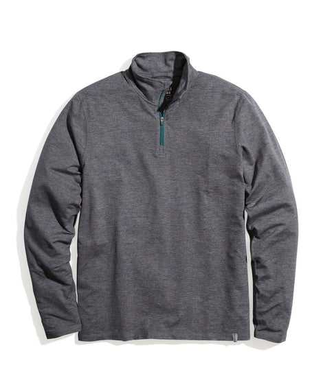 Sport Quarter Zip in Grey Heather