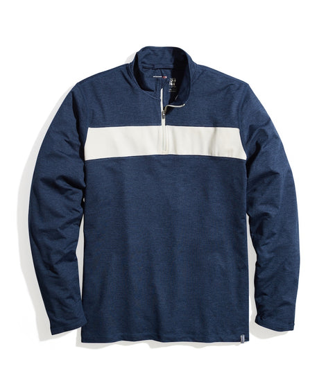 Sport Quarter Zip in Navy Heather