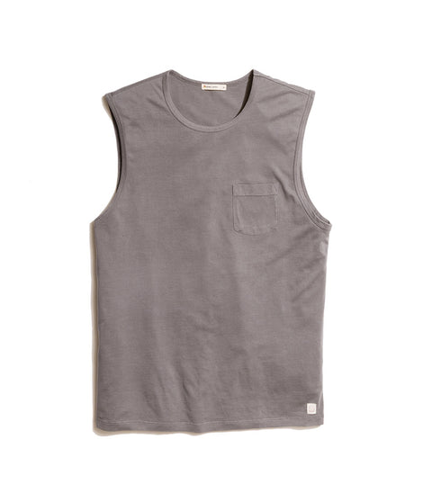 Arturo Muscle Tank in Faded Black