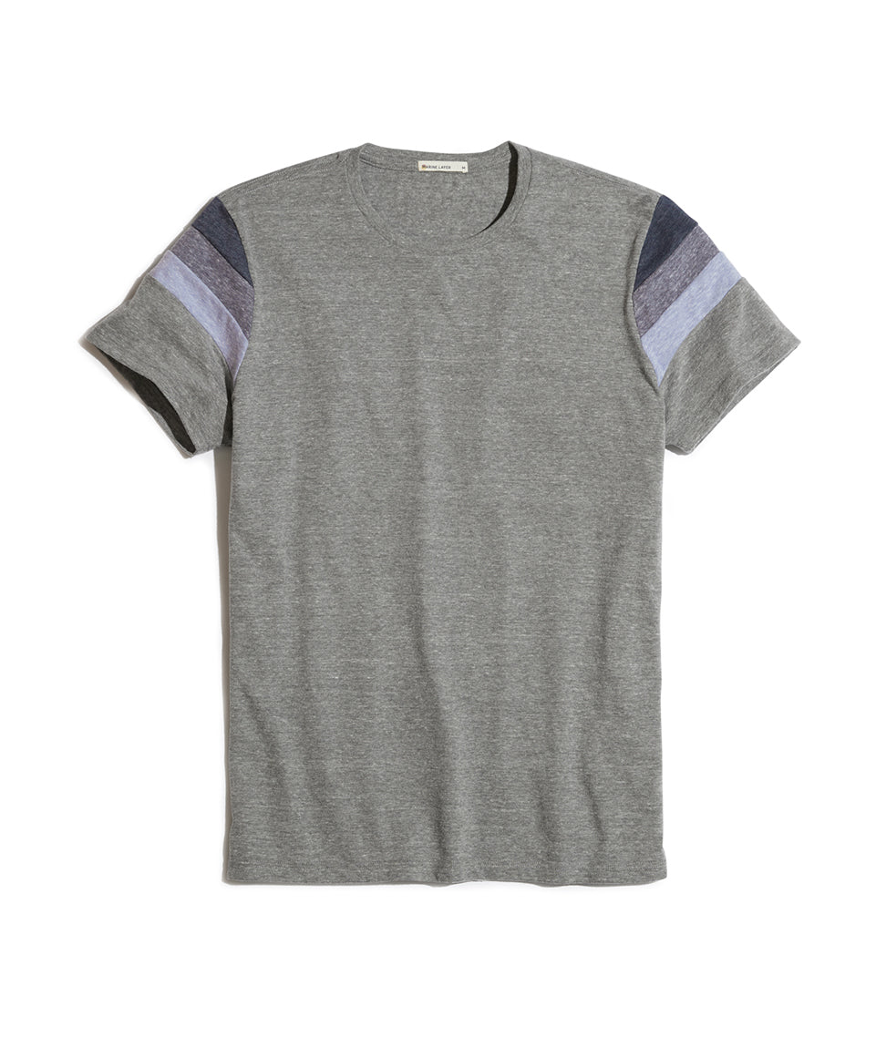 Banks Tee in Heather Grey