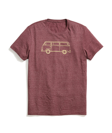 Bus Tee in Tawny Port