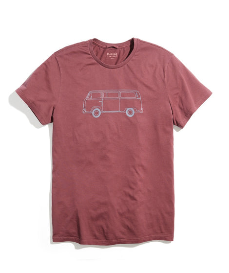 Signature Crew Bus Tee in Andorra