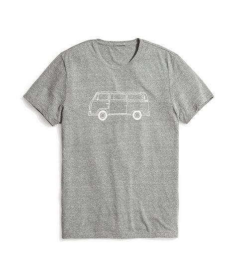 Bus Graphic Tee in Green Gables