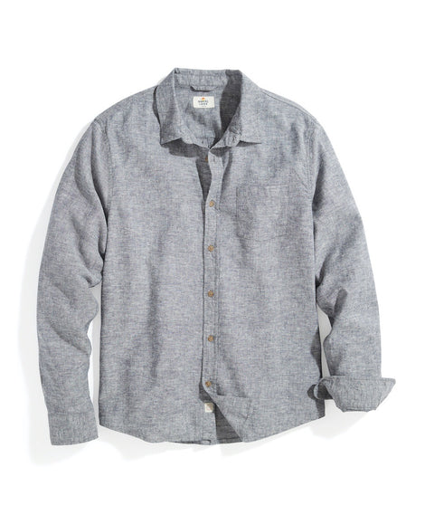 Classic Fit Ashbury Button Down in Navy Heather
