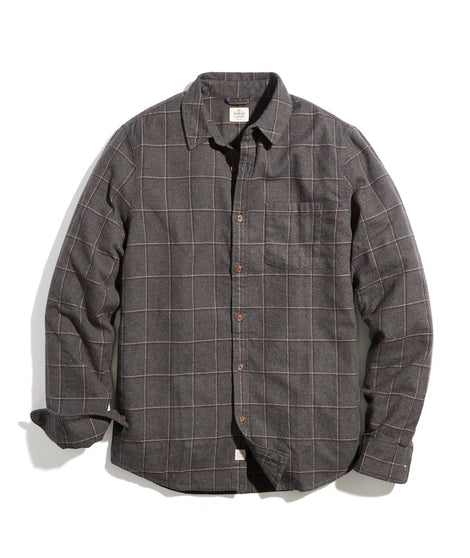 Classic Fit Balboa Button Down in Charcoal Plaid