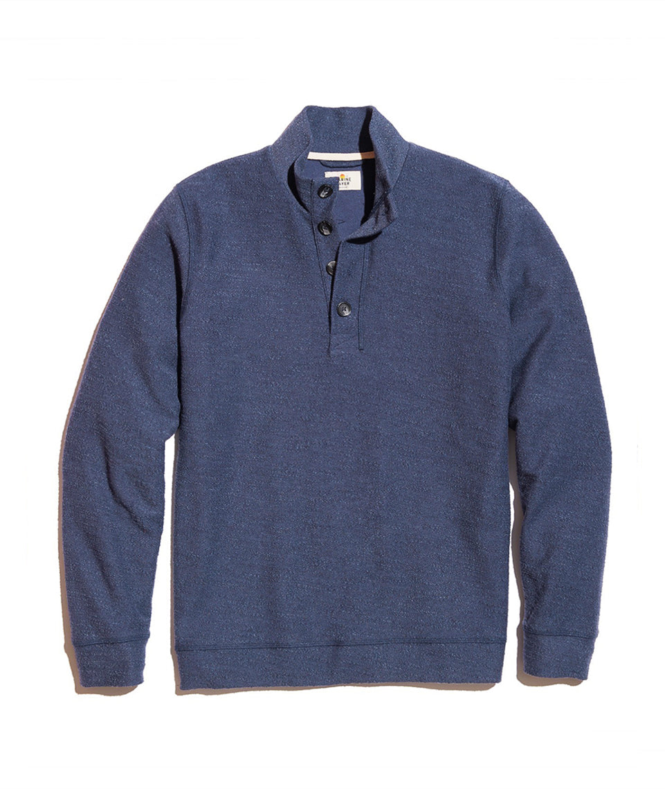 Clayton Pullover in Tonal Blue