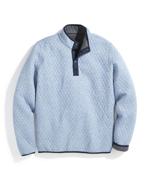 Reversible Corbet Pullover in Light Blue Heather/Charcoal Heather