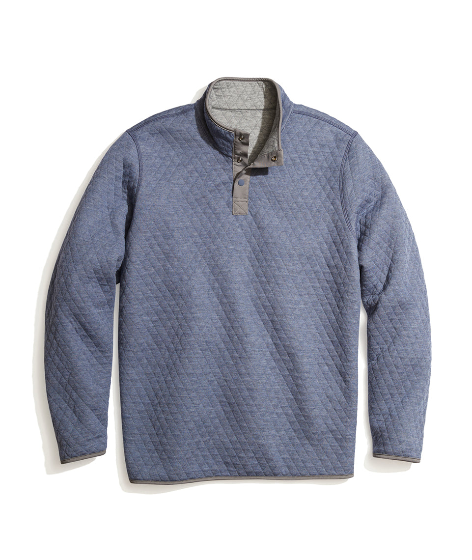 Corbet Pullover in Bering Sea/Dark Heather Grey