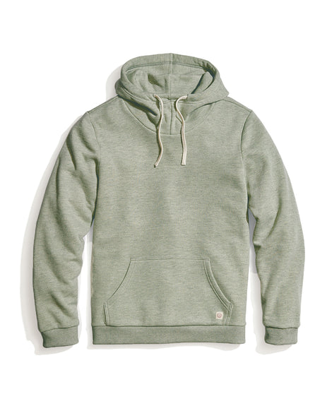 Cowlneck Hoodie in Agave Green