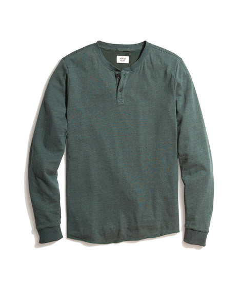 Double Knit Henley in Green Gables