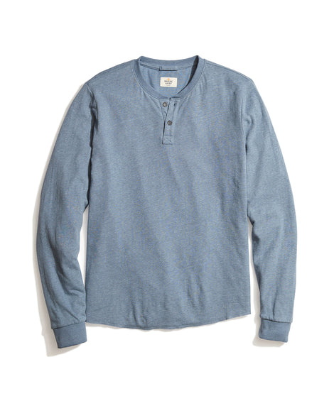 Double Knit Henley in Insignia Blue