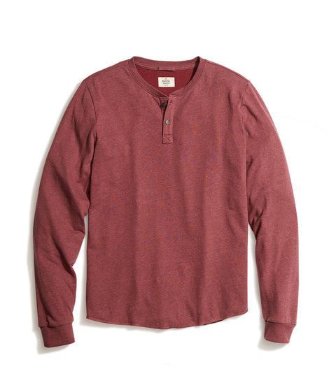 Double Knit Henley in Tawny Port