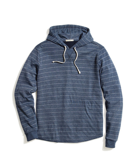 Double Knit Hoodie in Blue/White Stripe