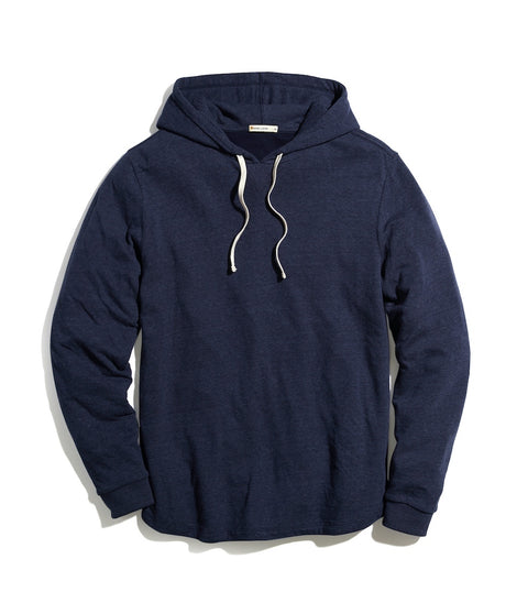 Double Knit Pullover Hoodie in Navy Blazer