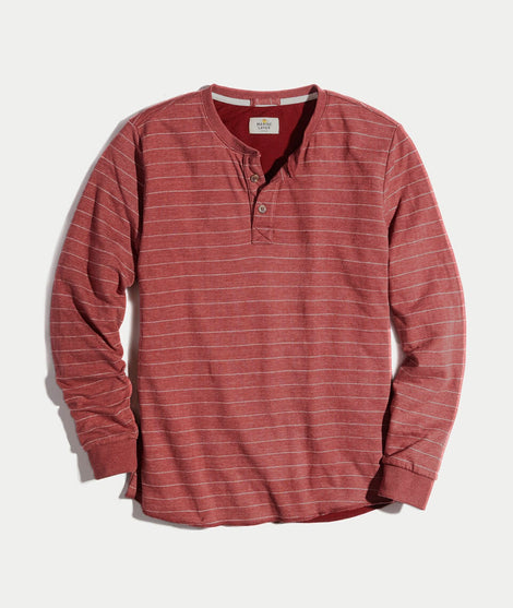 Double Knit Henley in Raisin