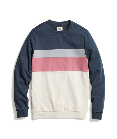 Jordan Sweatshirt in Navy/Natural Colorblock