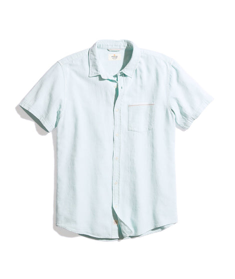 Lance Button Down in Soft Aqua