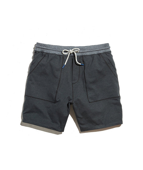 Yoga Short in Asphalt Heather