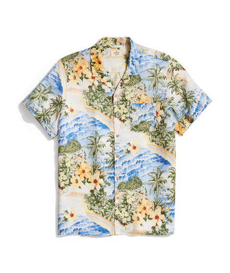 MAhalo button down front