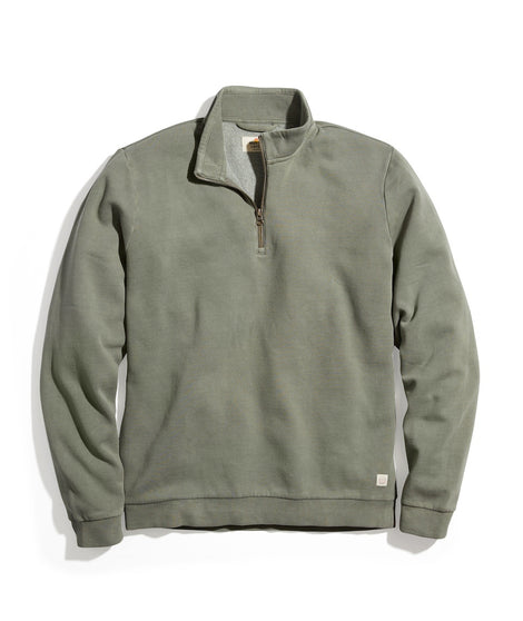 Ford Quarter Zip Sweatshirt in Agave Green