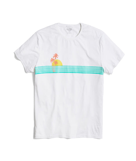 palm sunset tee front