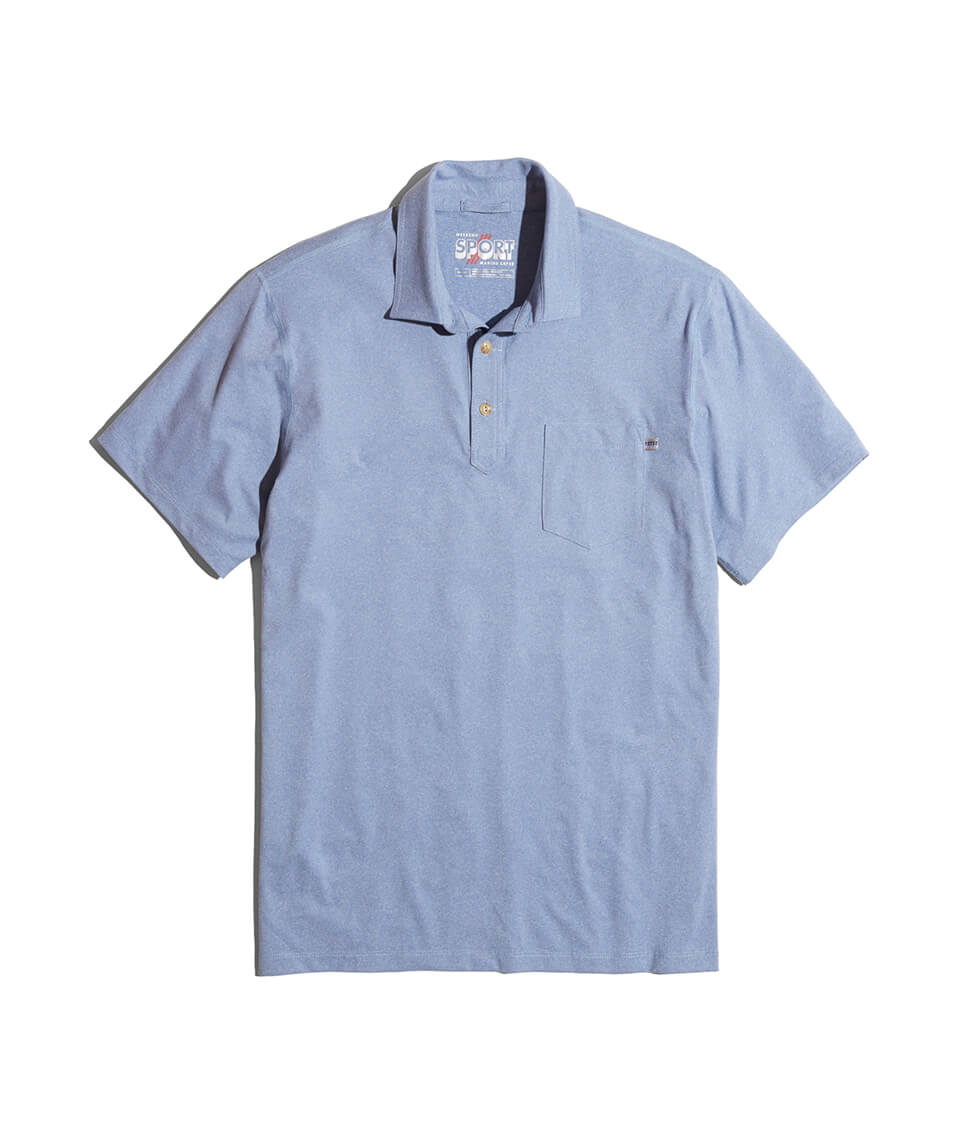 Palmer Sport Polo in Blue Heather