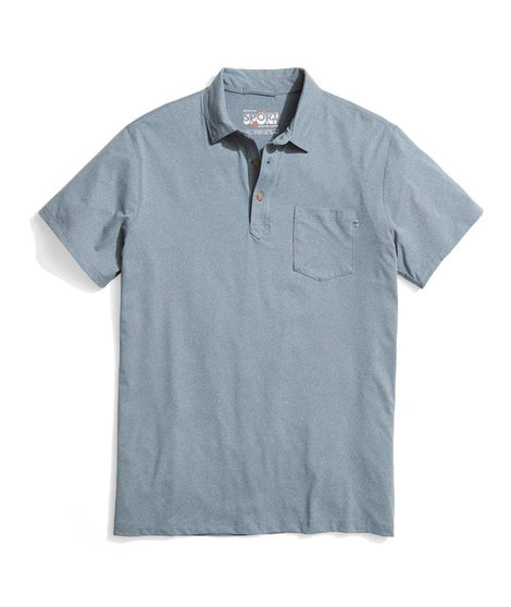 Palmer Sport Polo in Dark Denim