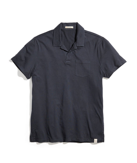 Garment Dye Resort Polo in Faded Black