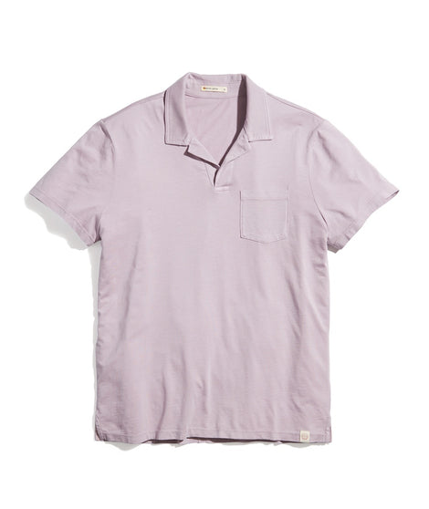 Garment Dye Resort Polo in Mauve Shadows