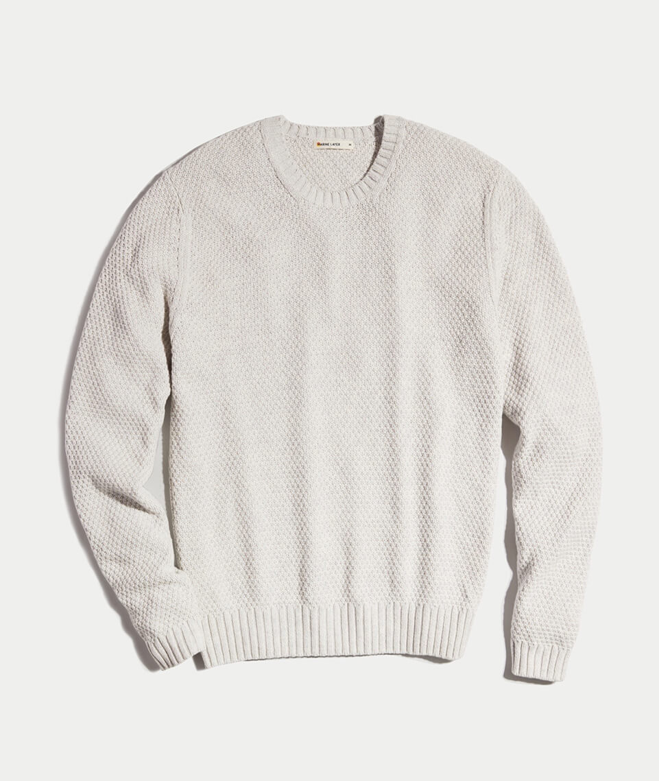 Prescott Sweater in Light Heather