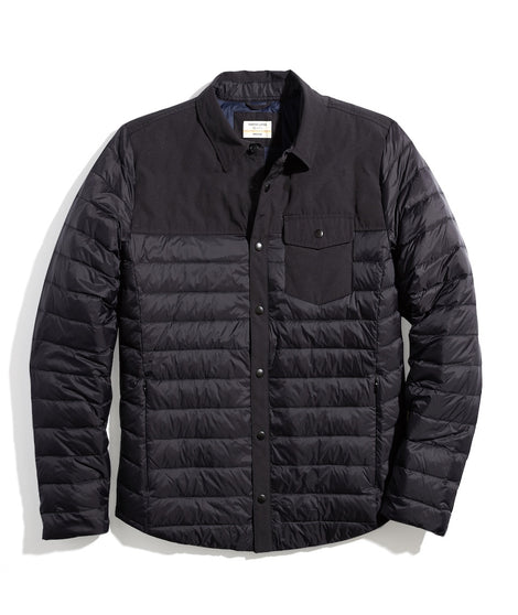 Puffer Overshirt in Black